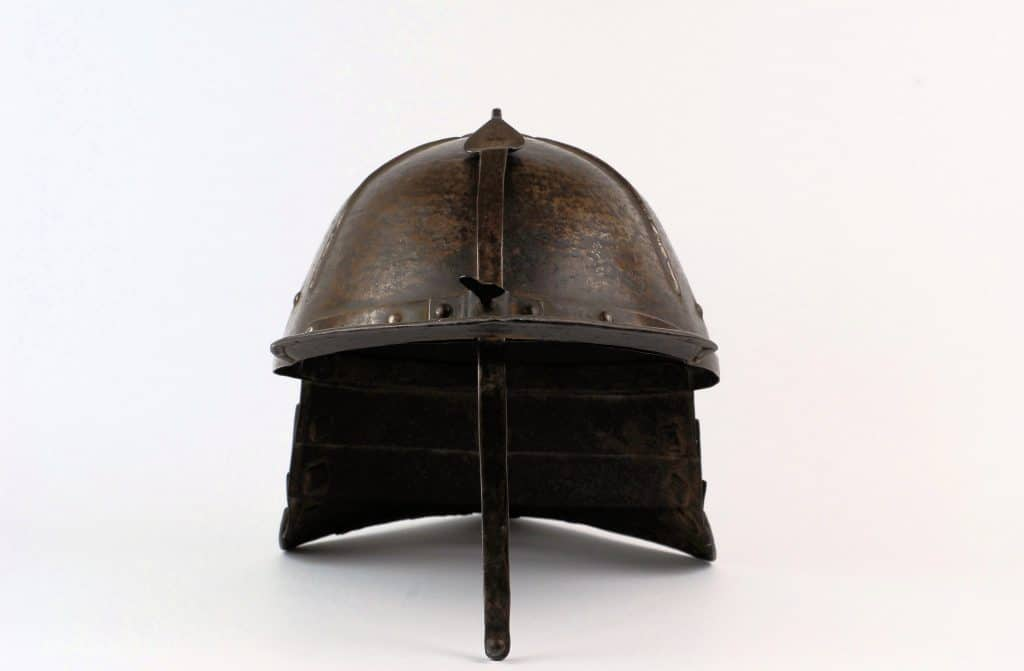 A Lobstertail pot helmet, 17th century