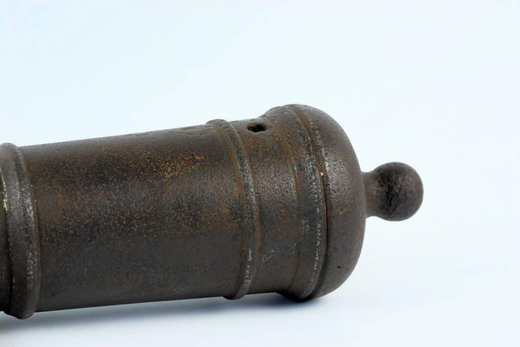 An 18th century swivel cannon