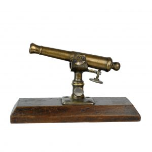 An adjustable bronze table cannon, France 19th century