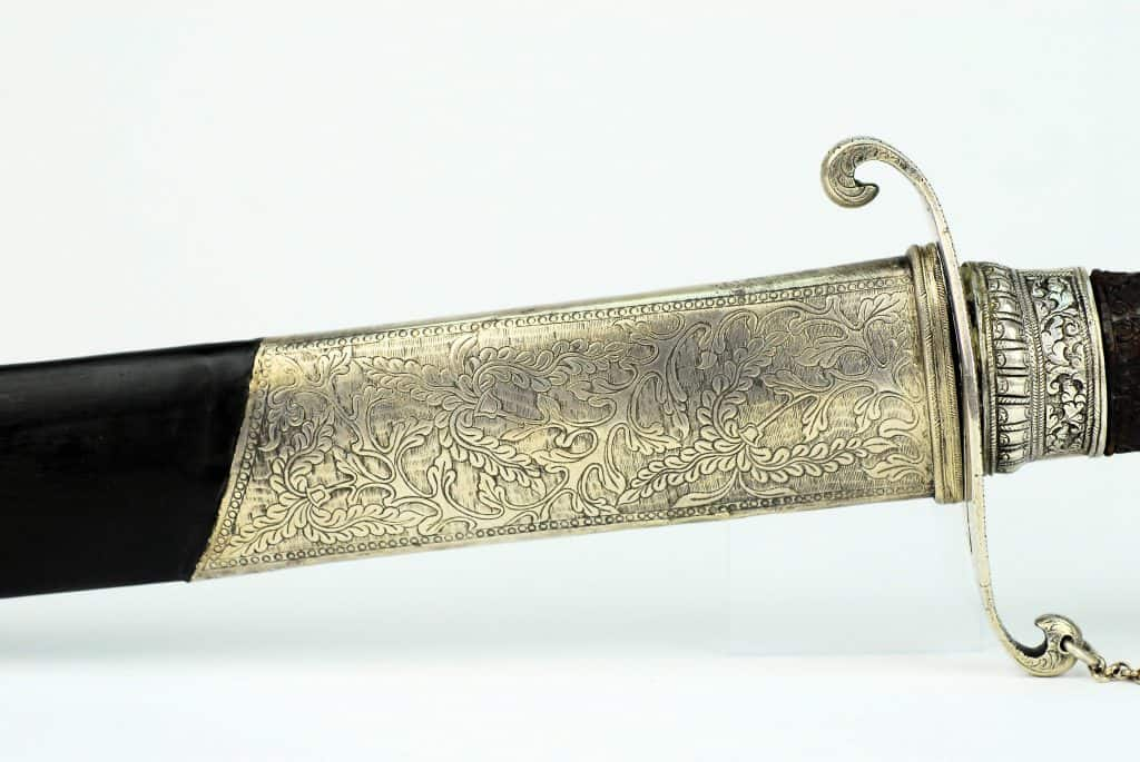 A Silver Javanese court sword, 19th century