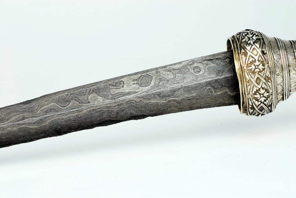 An excellent silver badek, 19th century Java