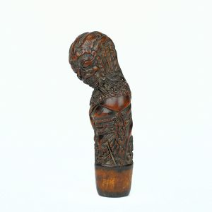 A fine North-East Javanese keris handle depicting Rakshasa