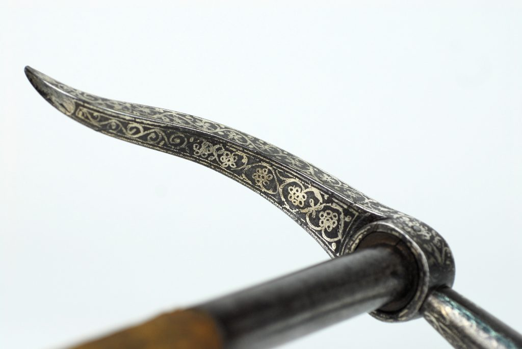An Ottoman 'Kulunk' with silver inlay.