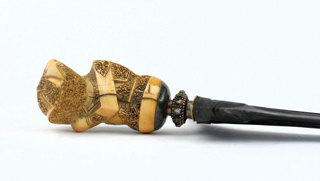 A luxury Palembang keris with ivory hilt.