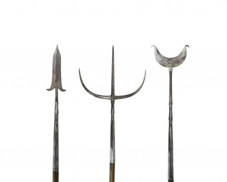 A set of Chinese pole arms - 19th century